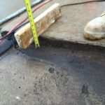 ASA Concrete Service: slab lifting and void filling - measuring gap